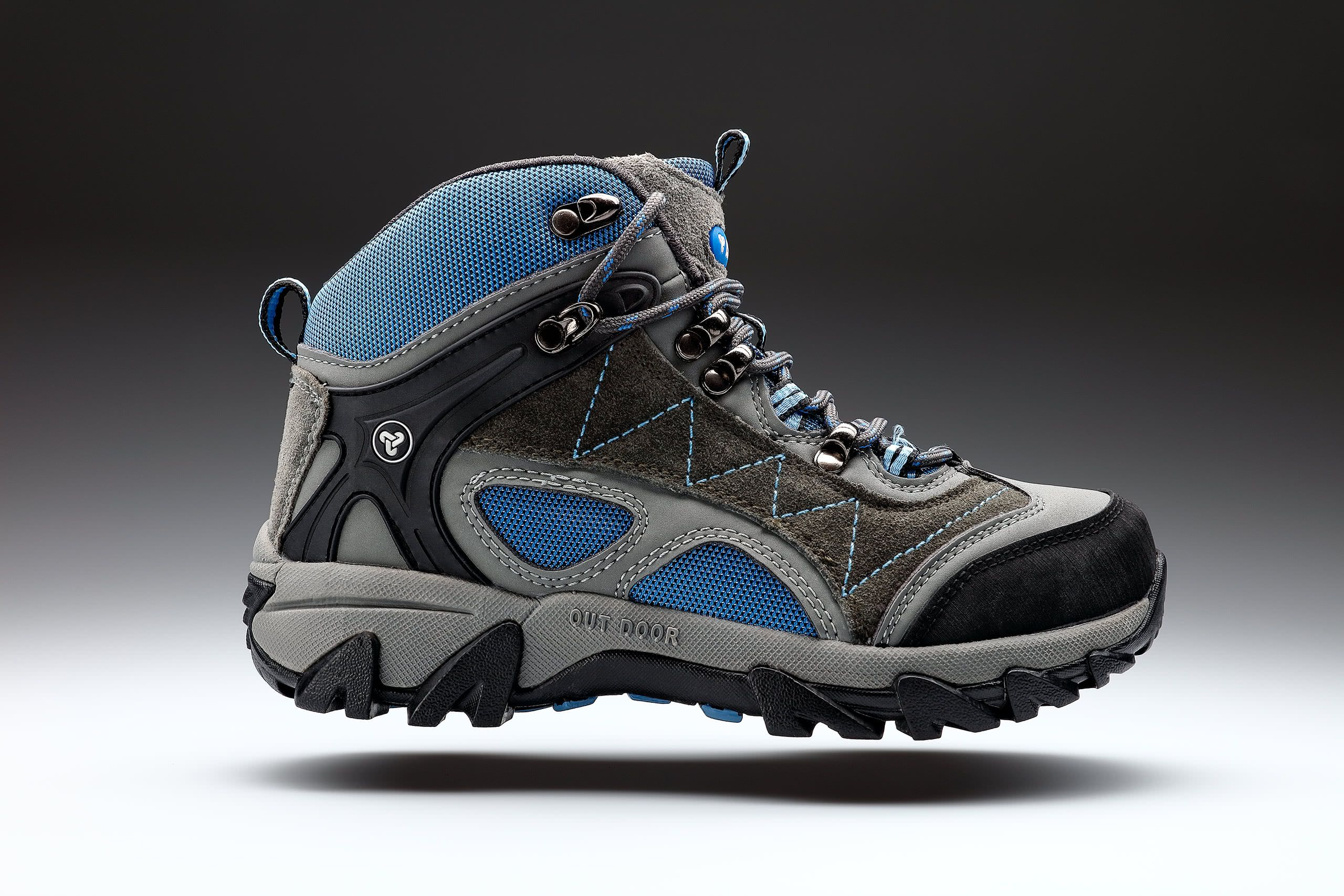 hiking boots product photography