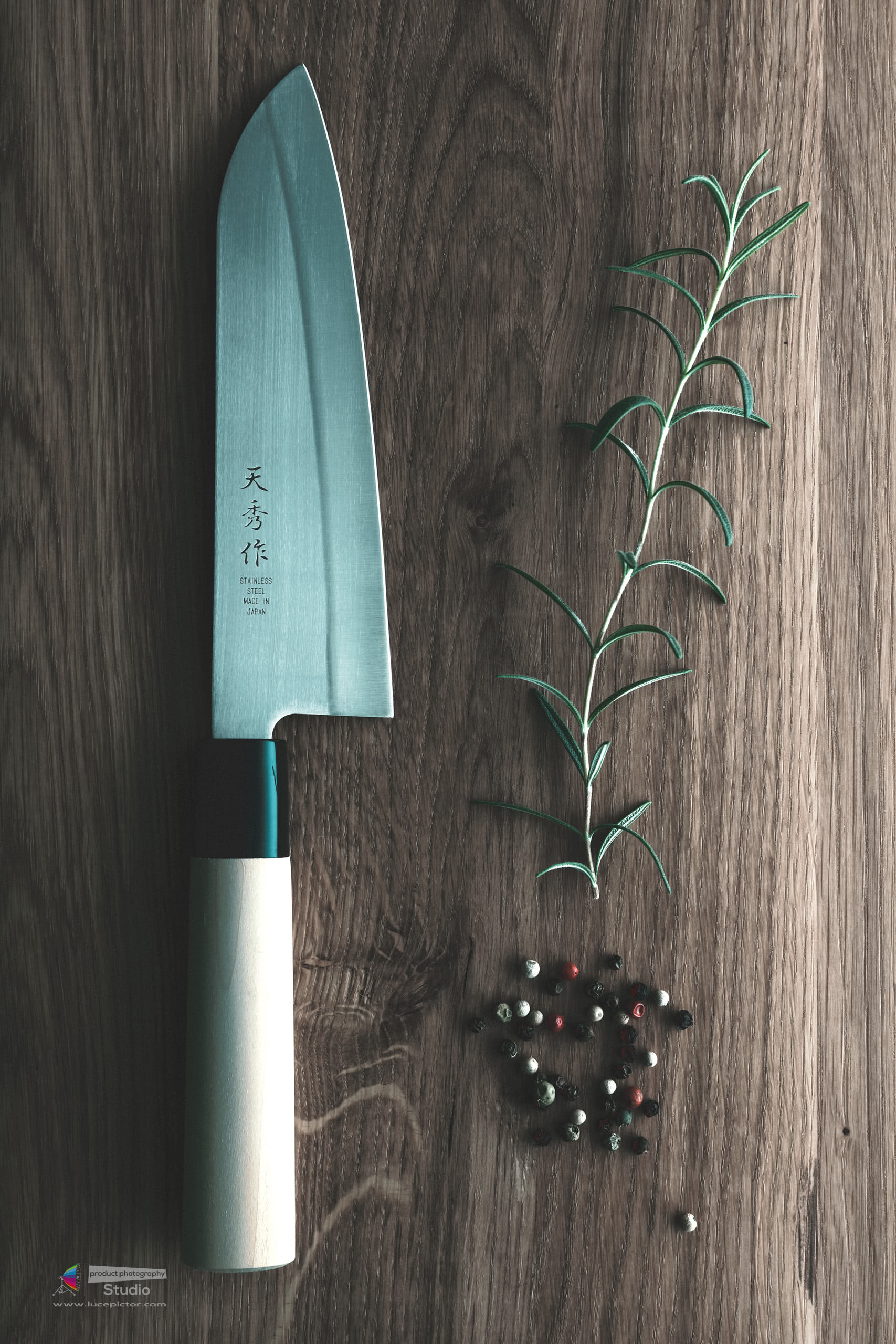chef knife product photography