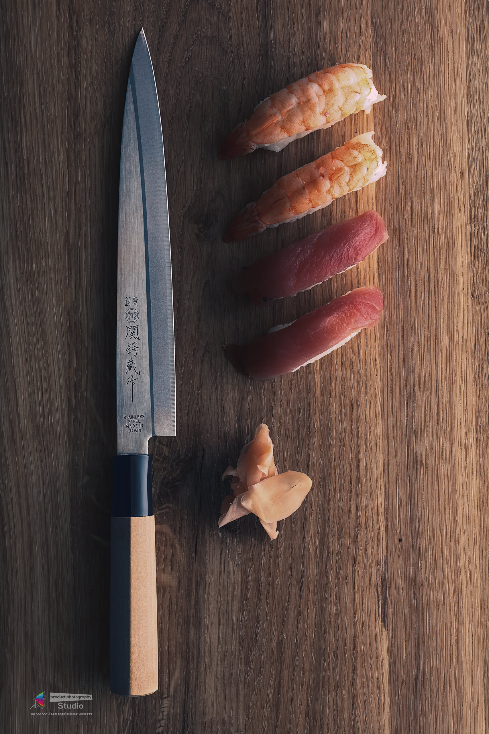 editorial knife product photography