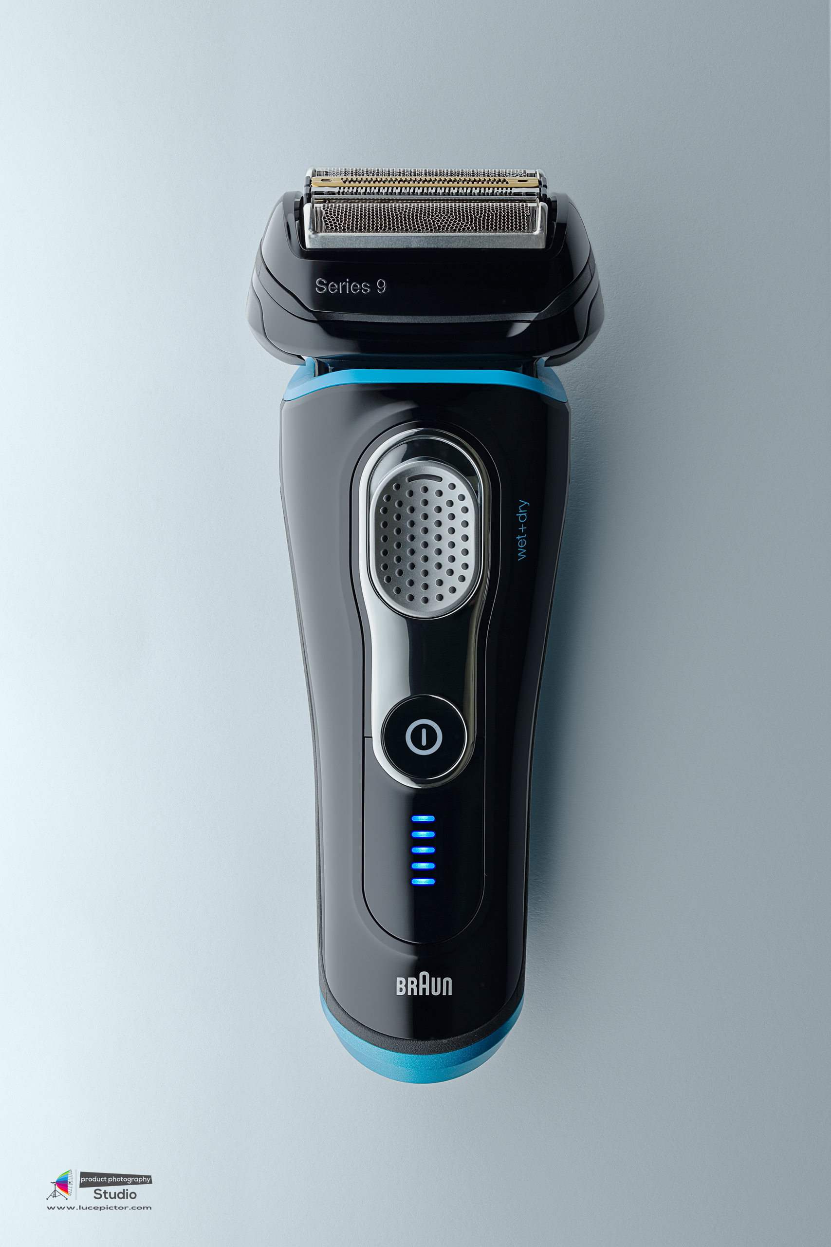 electric razor product photography