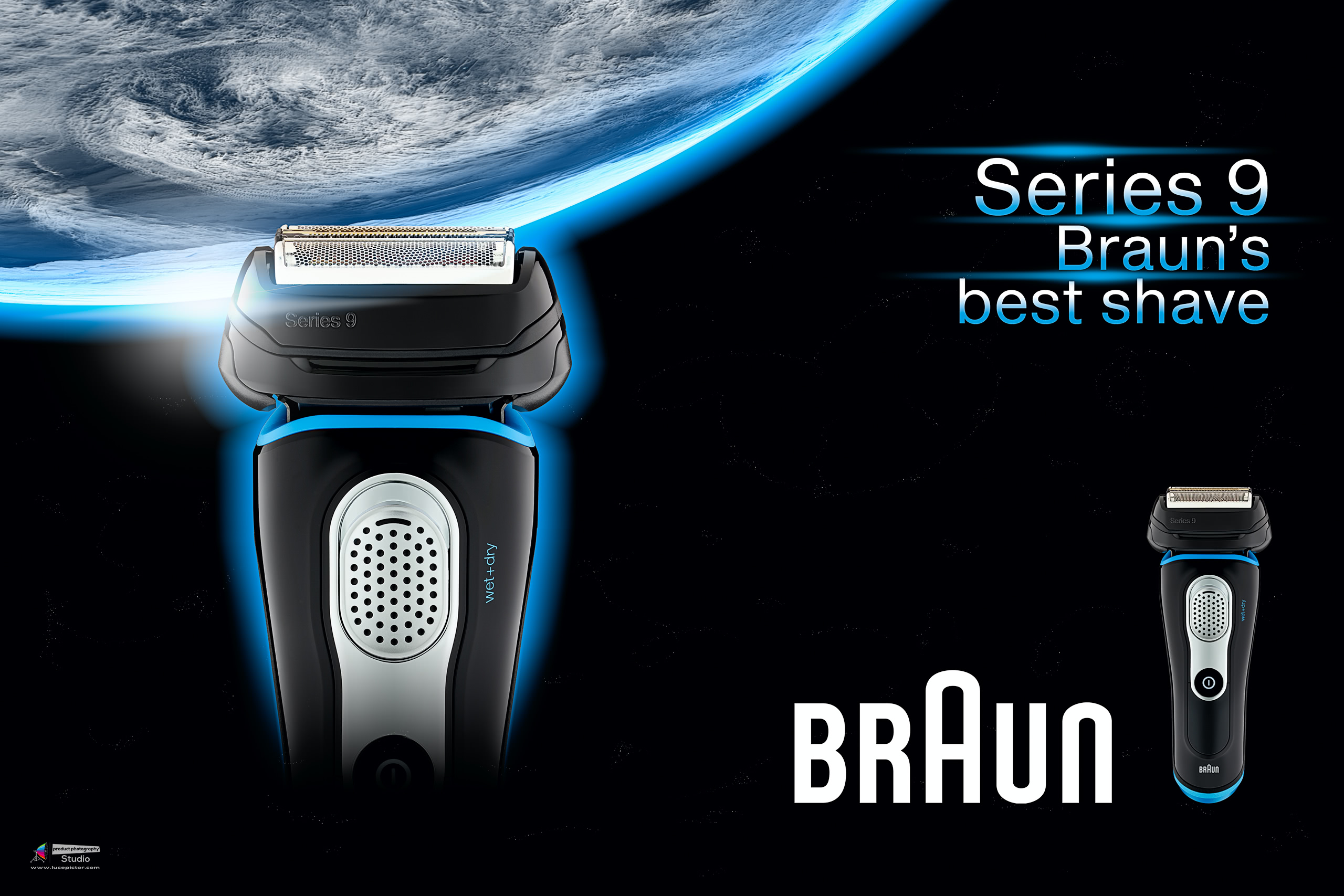 braun shaver advertising photography